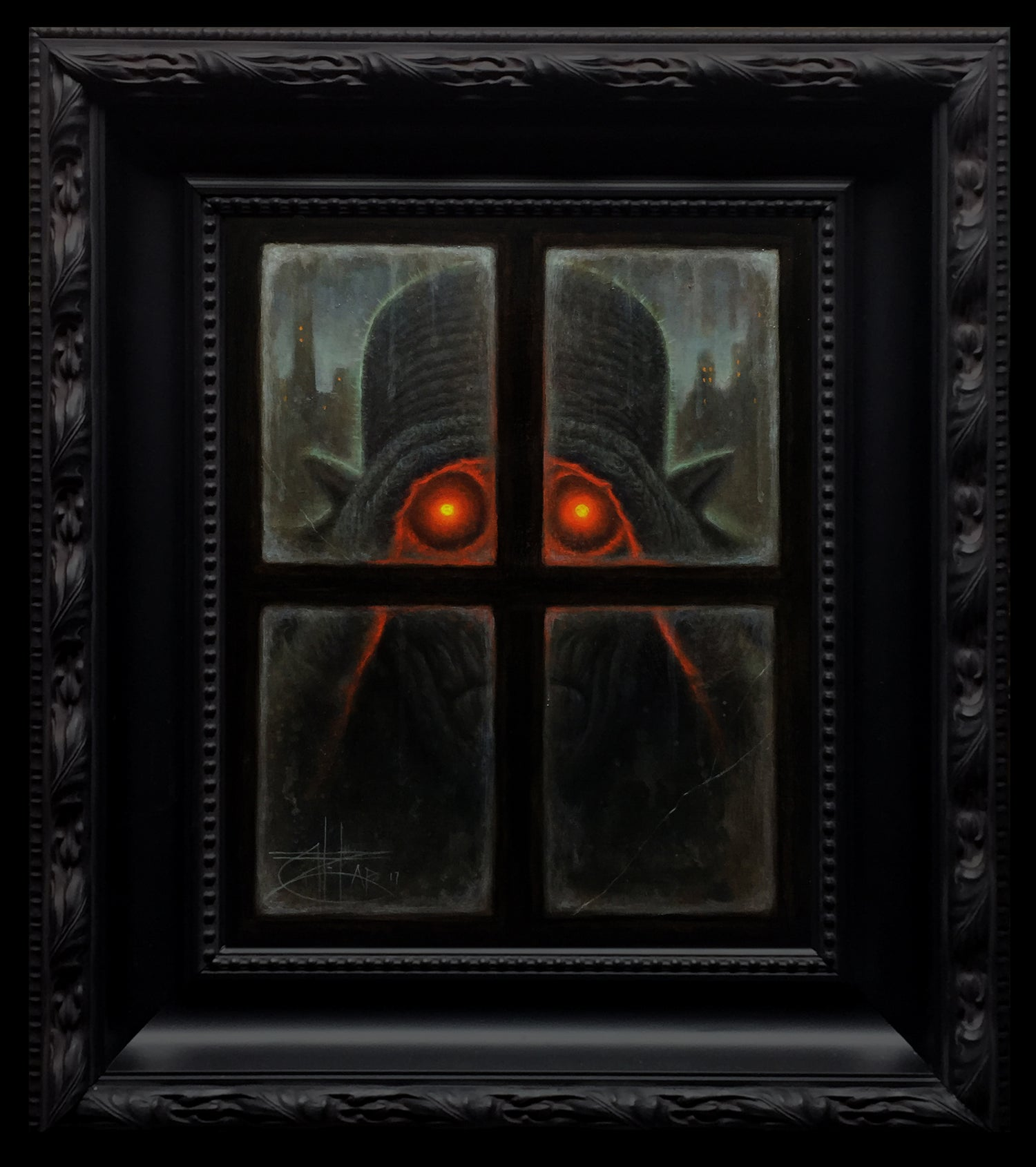 """Image of """"The Peeper"""" <br>Original Painting <br>by Chet Zar"""