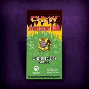 Image of CHEW: Limited Edition Secret Agent Poyo Enamel Pin! FEWER than 15 left!