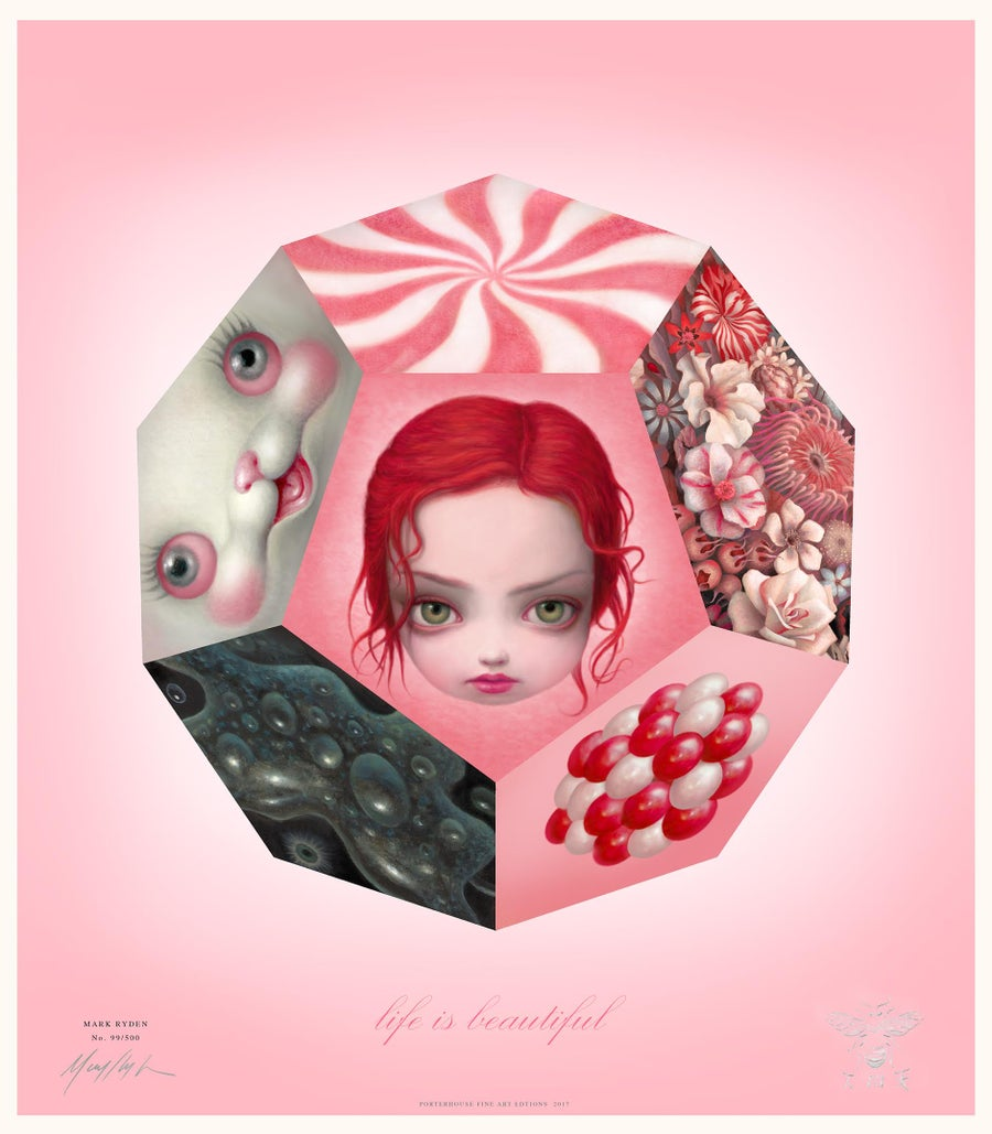 "Image of ""Life Is Beautiful"" <br>Special Poster <br>by Mark Ryden"