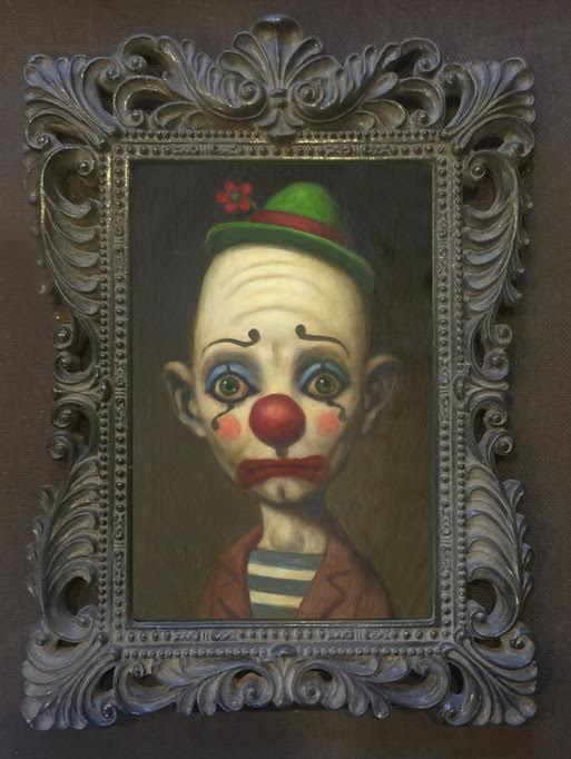 "Image of ""Anxiety Clown"" <br>Framed Limited Edition Print <br>by Marion Peck"