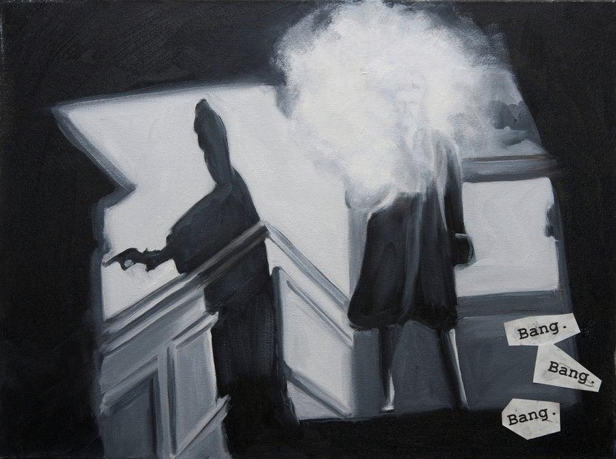 """Image of """"Bang Bang Bang"""" <br>Limited Edition Print on Aluminum <br>by Eve Plumb"""