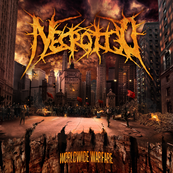 Image of NECROTTED - Worldwide Warfare CD [pre-order]