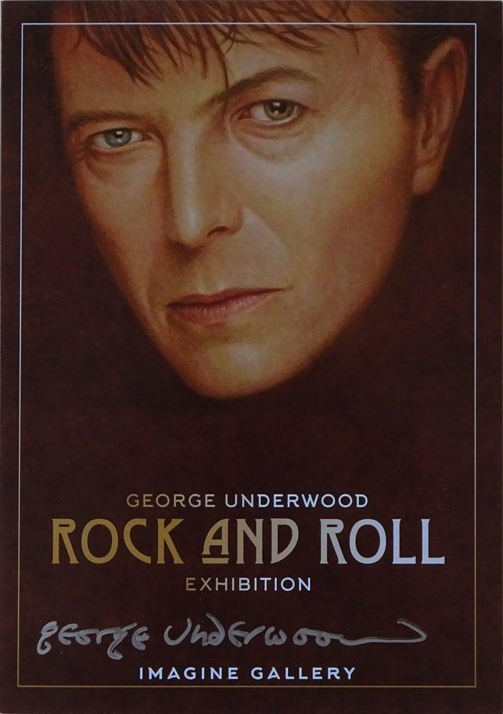 Image of Signed George Underwood - Rock & Roll Exhibition Invitation