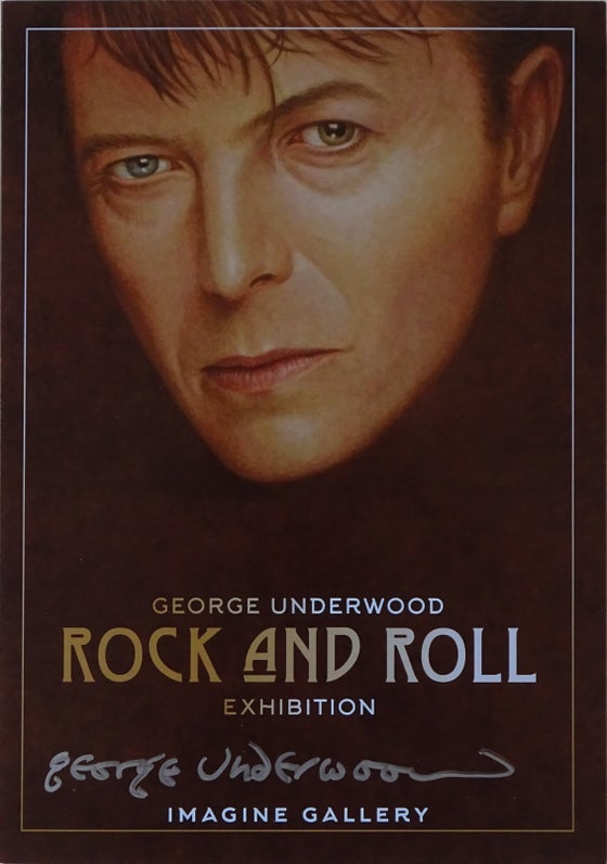 Image of Signed George Underwood - Rock & Roll Exhibition Invitation