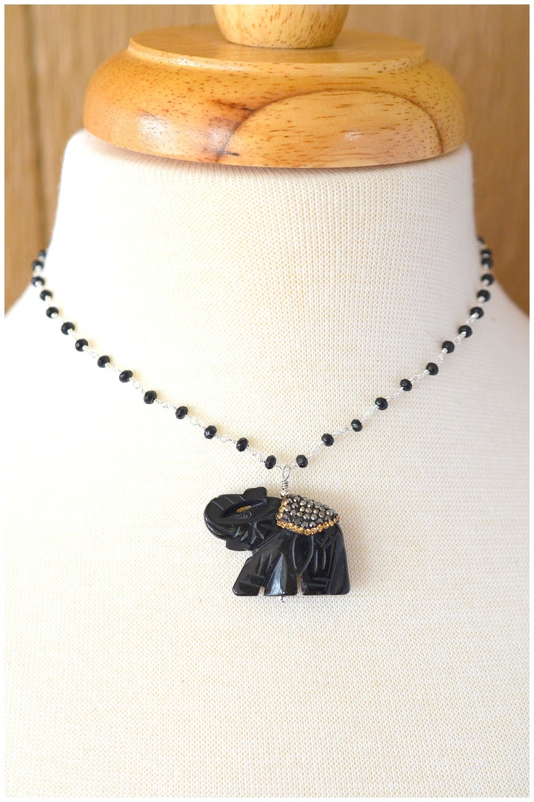 Image of Good Luck Elephant Necklace
