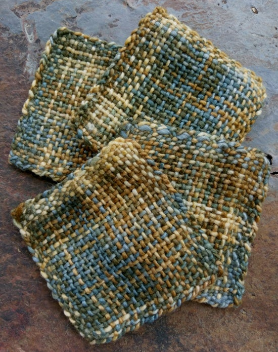 Image of Dust Clouds, handwoven coaster set