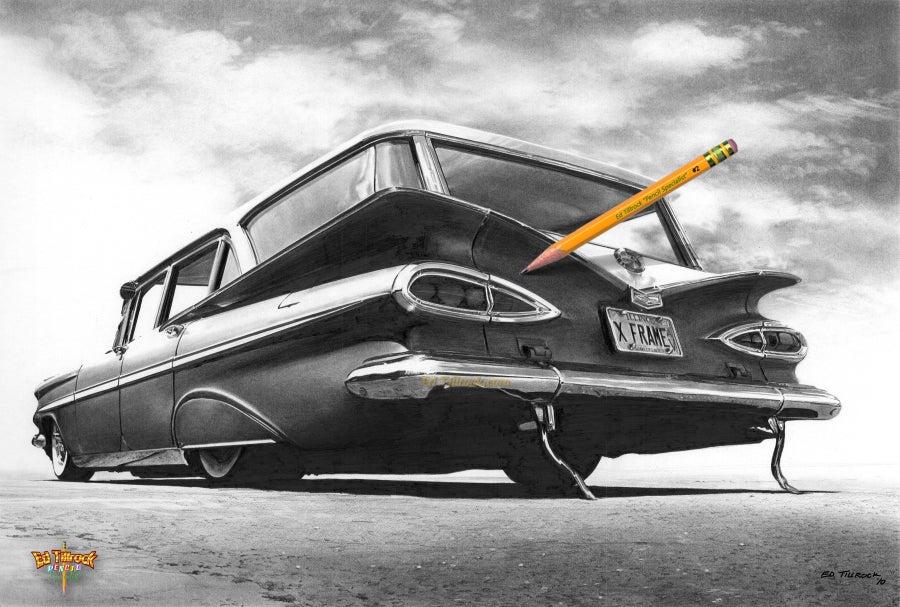 """Image of '59 Wagon """"X Frame"""" 11x17 Print"""
