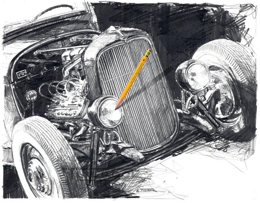 "Image of ""Cyclone"" Sketch 11x17 Print"