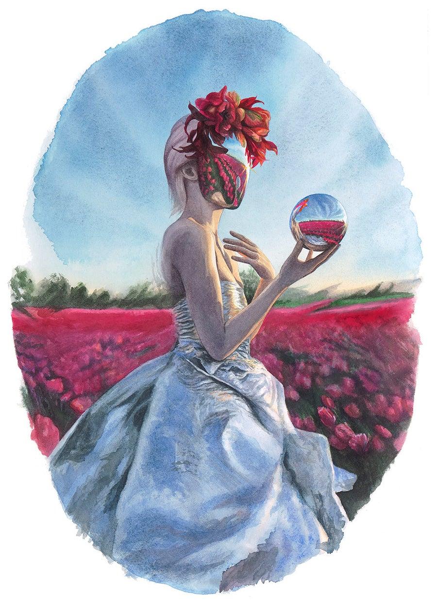 "Image of ""Bloom"" <br>Original Watercolor Study <br>by Redd Walitzki"