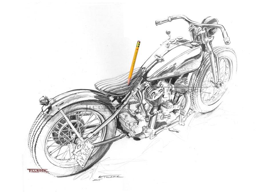 Image of Casey's Bobber Sketch 11x17 Print