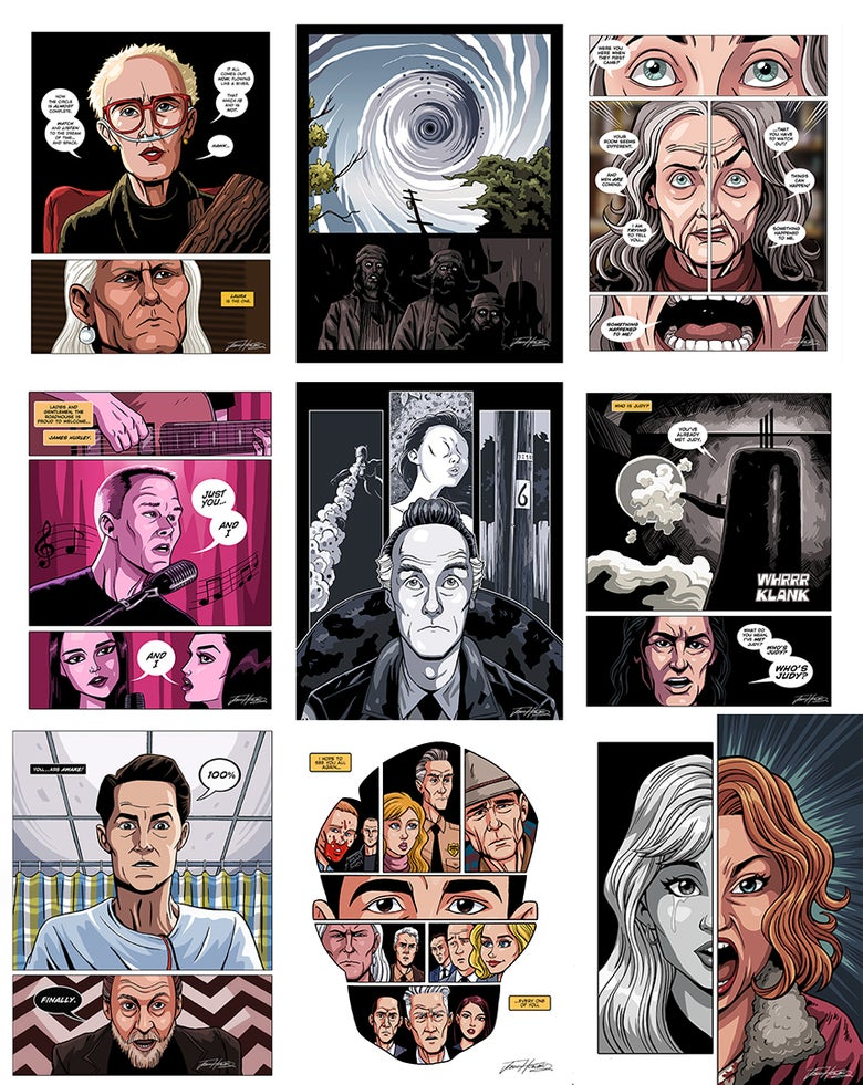Image of TWIN PEAKS: The Return Print Set - Parts 10-18
