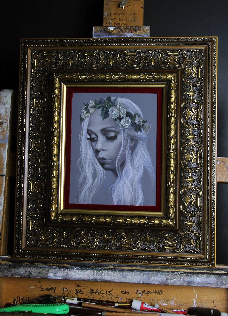 "Image of ""The White"" (Portrait Study) <br>Original Portrait Study <br>by David Stoupakis"