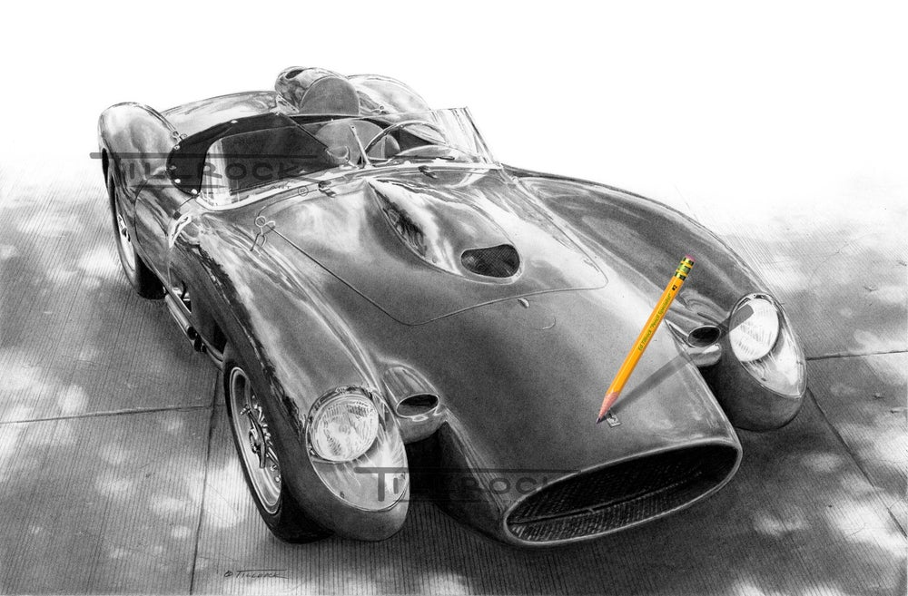Image of '57 Ferrari Testa Rosa Signed and Numbered 20x24 Giclee' Print