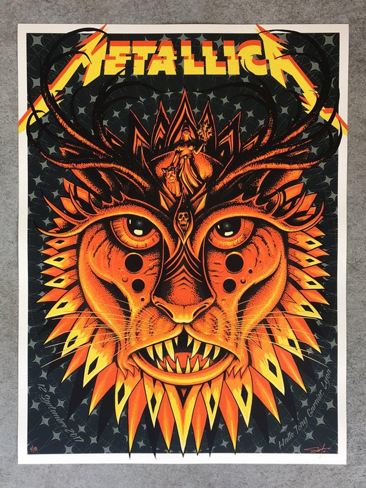 Image of Metallica Lyon Artist Edition Poster