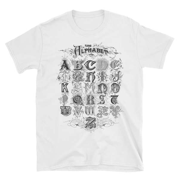 Image of Alphabet Shirt White