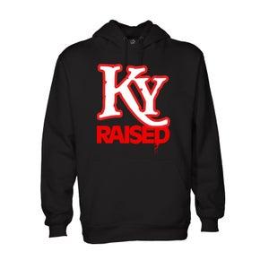 Image of KY Raised Hoodie in Black / White / Red