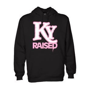 Image of KY Raised Hoodie in Black / White / Pink