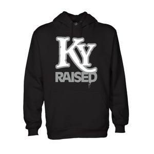 Image of KY Raised Hoodie in Black / White / Grey