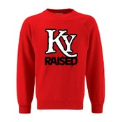 Image of KY Raised Crewneck Sweatshirt in Red / White / Black
