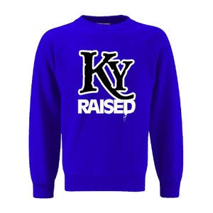 Image of KY Raised Crewneck Sweatshirt in KY Blue / White / Black