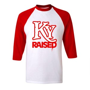 Image of KY Raised Baseball Tees in Red & White