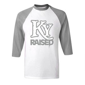 Image of KY Raised Baseball Tees in Grey & White