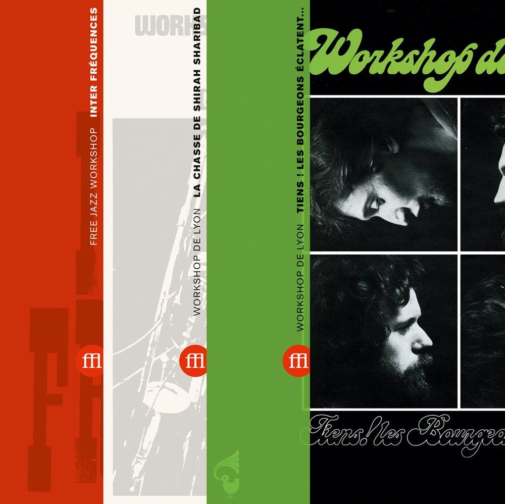 Image of Free Jazz Workshop - Workshop de Lyon - all three reissues bundle