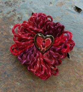 Image of Rosa Parks Heart pin, handmade