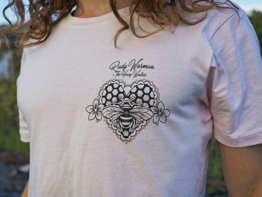 Image of Rudy Warman Organic Honey Bee Light Pink T
