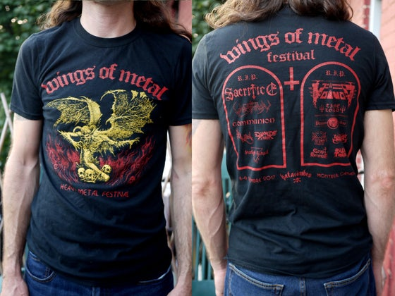 Image of Wings of Metal Festival T-shirt pre-order