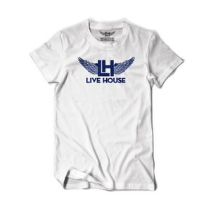 Image of Classic LH Wing Tee (Navy On White)