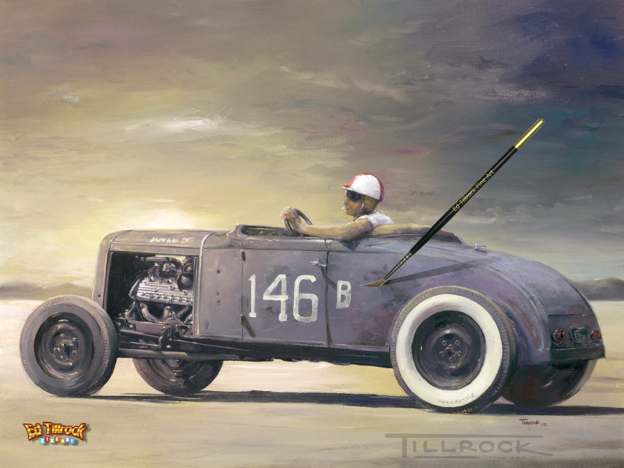 "Image of ""146B Roadster"" Signed and Numbered Color Giclee' Print"