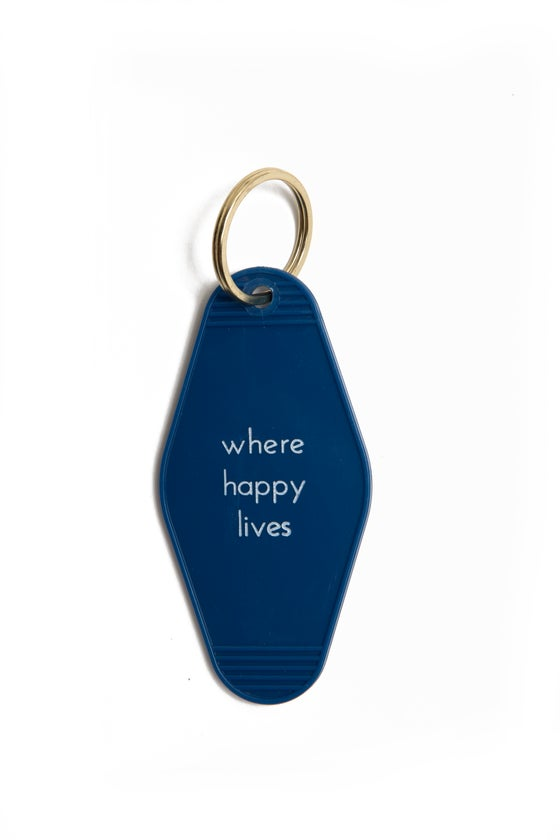 Image of where happy lives keytag