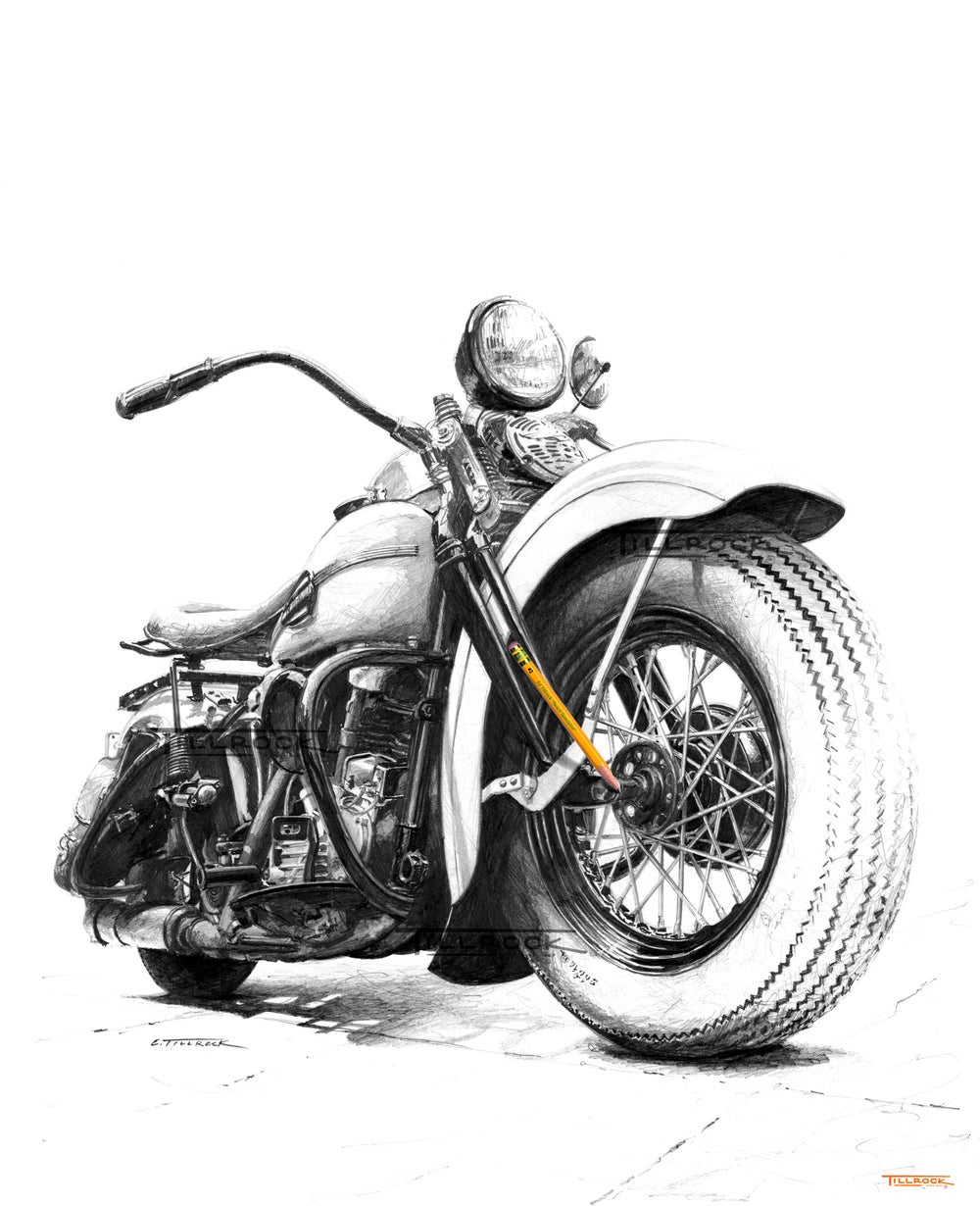 """Image of """"46 FL Knucklehead"""" Signed and Numbered 20x24 Giclee' Print"""