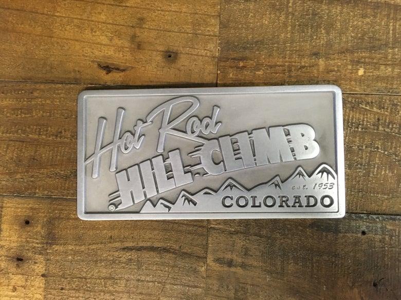 Image of Hot Rod Hill Climb Aluminum Plaque