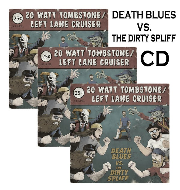 "Image of ""Death Blues vs. The Dirty Spliff"" Album Split! on Compact Disc"