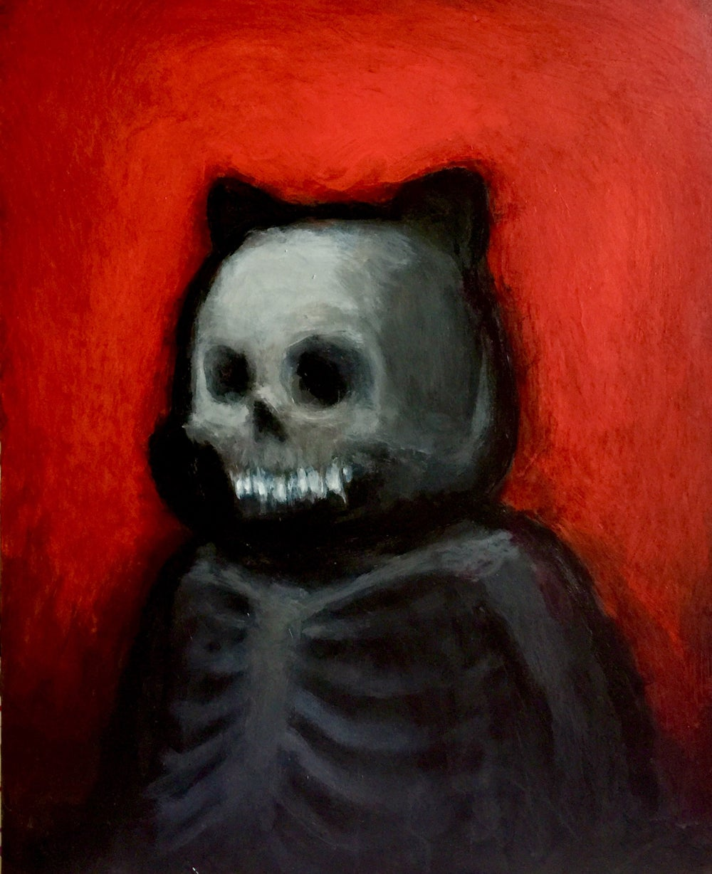 "Image of ""Skelhouette"" <br>Original Painting <br>by Luke Chueh"