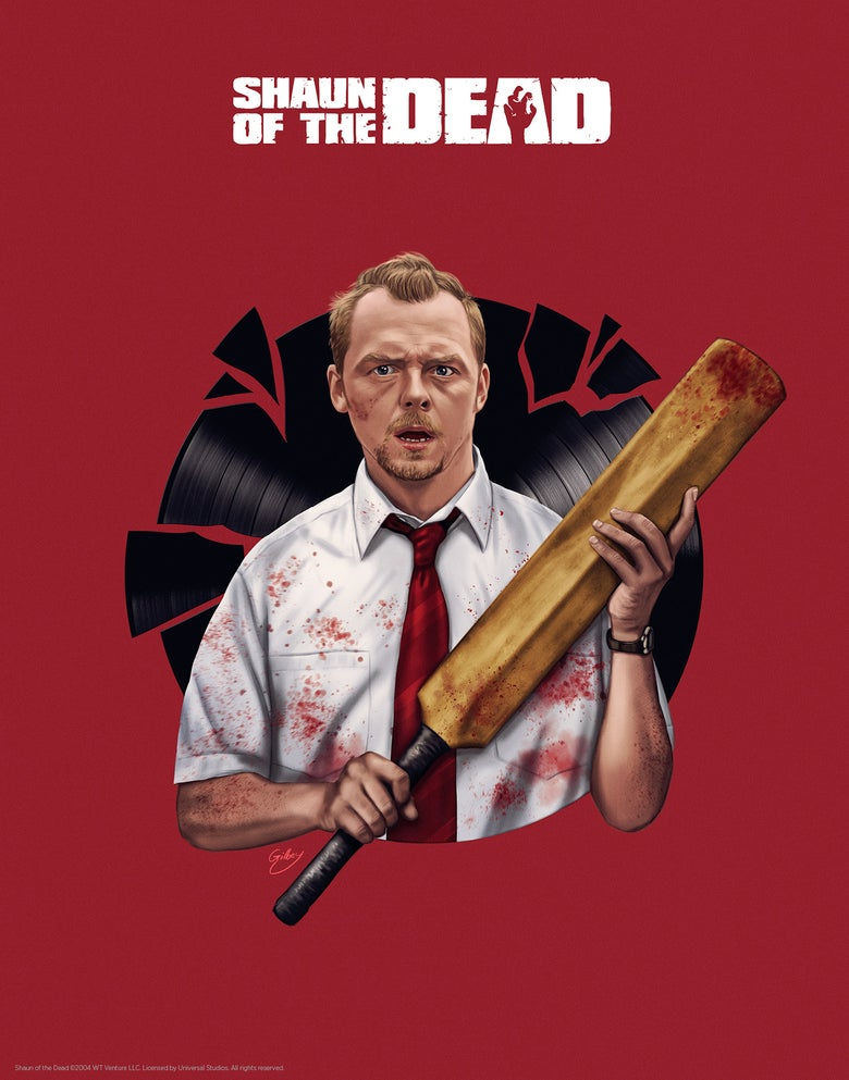 Image of Simon Pegg/Shaun of the Dead (officially licensed print)