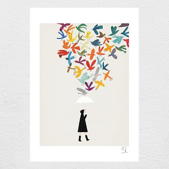 Image of Autumn Birds Print