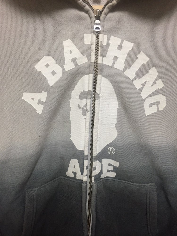 Image of Bape College Gradient Full Zip Hoodie Vintage