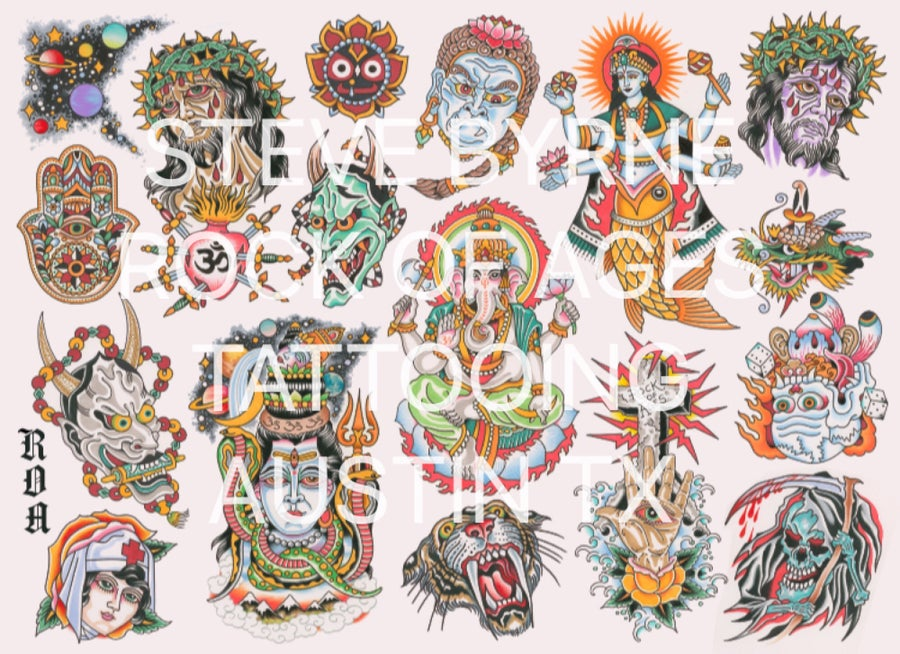 Image of TATTOO FLASH POSTER 2017
