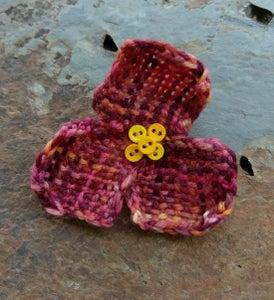 Image of Mixed Berries Trillium Flower Pin, handmade