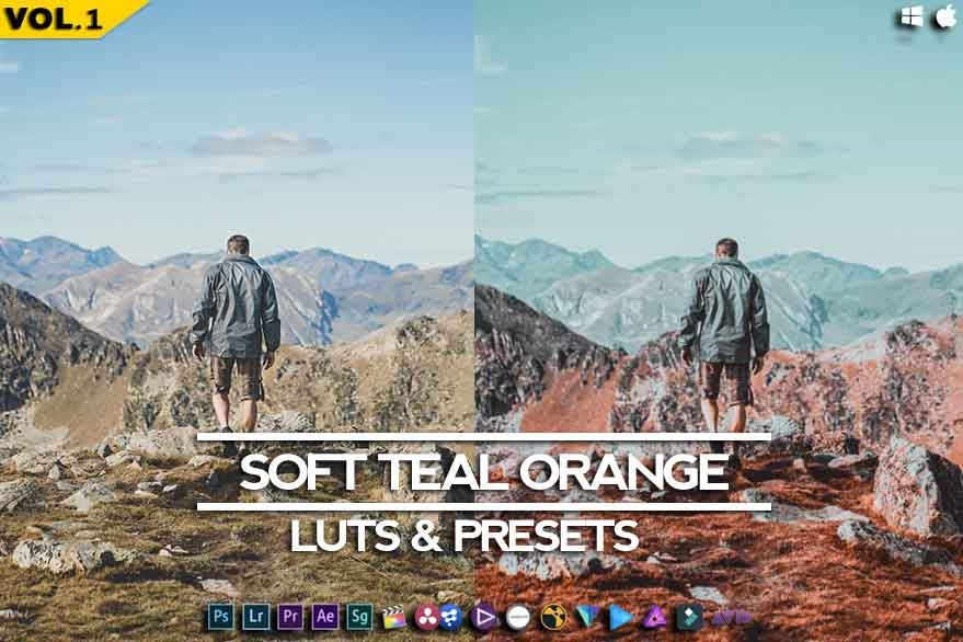 Image of SOFT Teal Orange - Blue Maroon Cinematic Luts & Presets -RMN