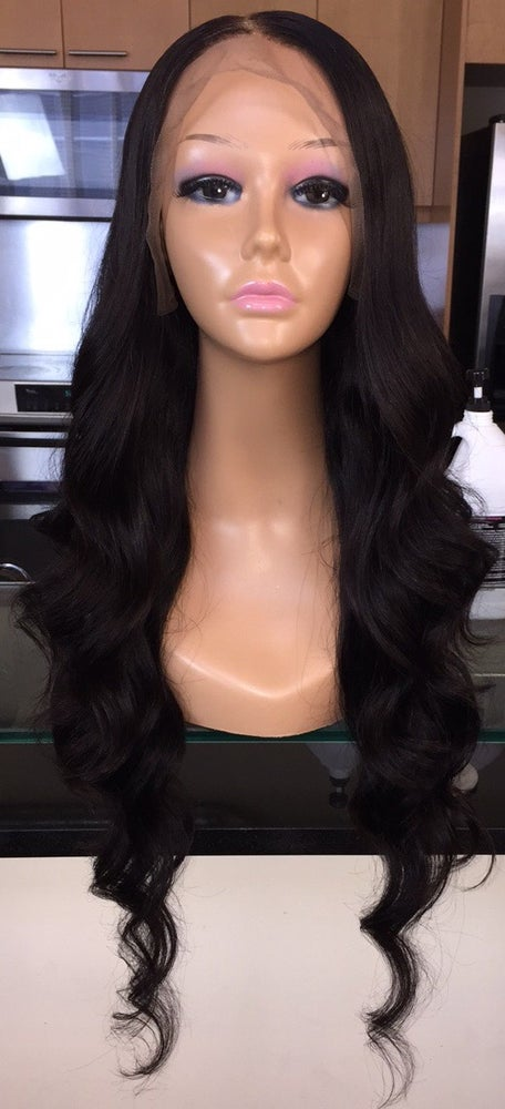 """Image of Indian Natural Wave 30"""" Custom Lace Frontal Wig!"""