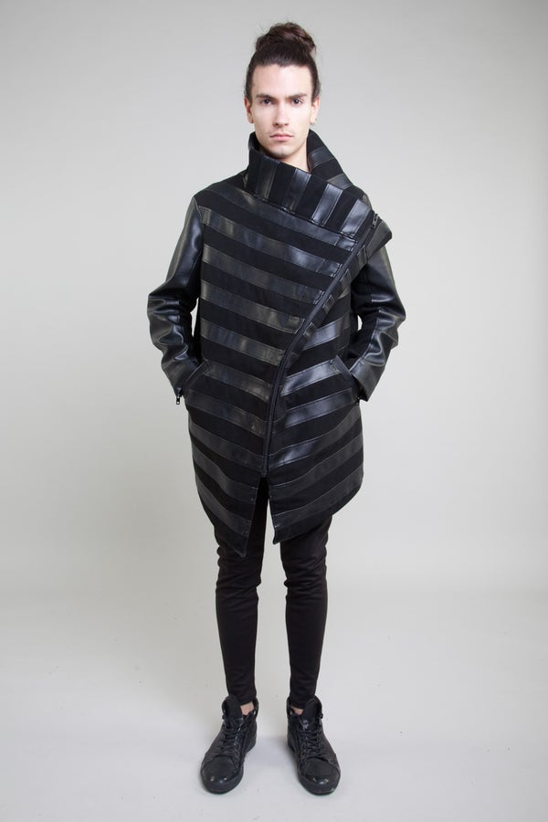STRIPE FUNNEL JACKET