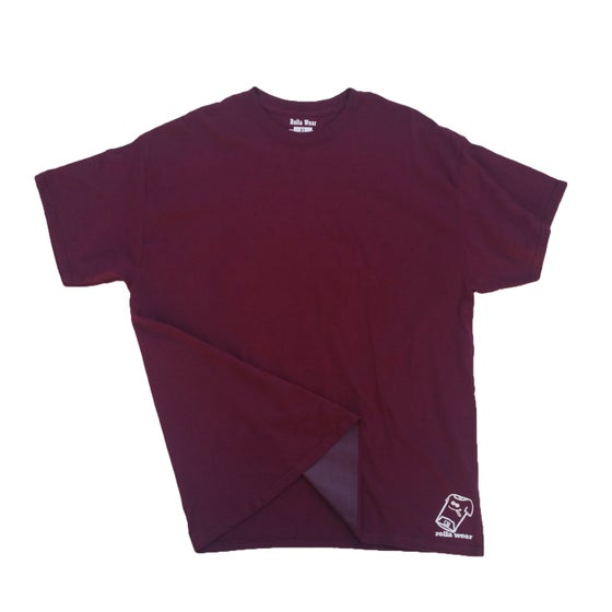 Image of Burgundy Rolla wear T-shirt
