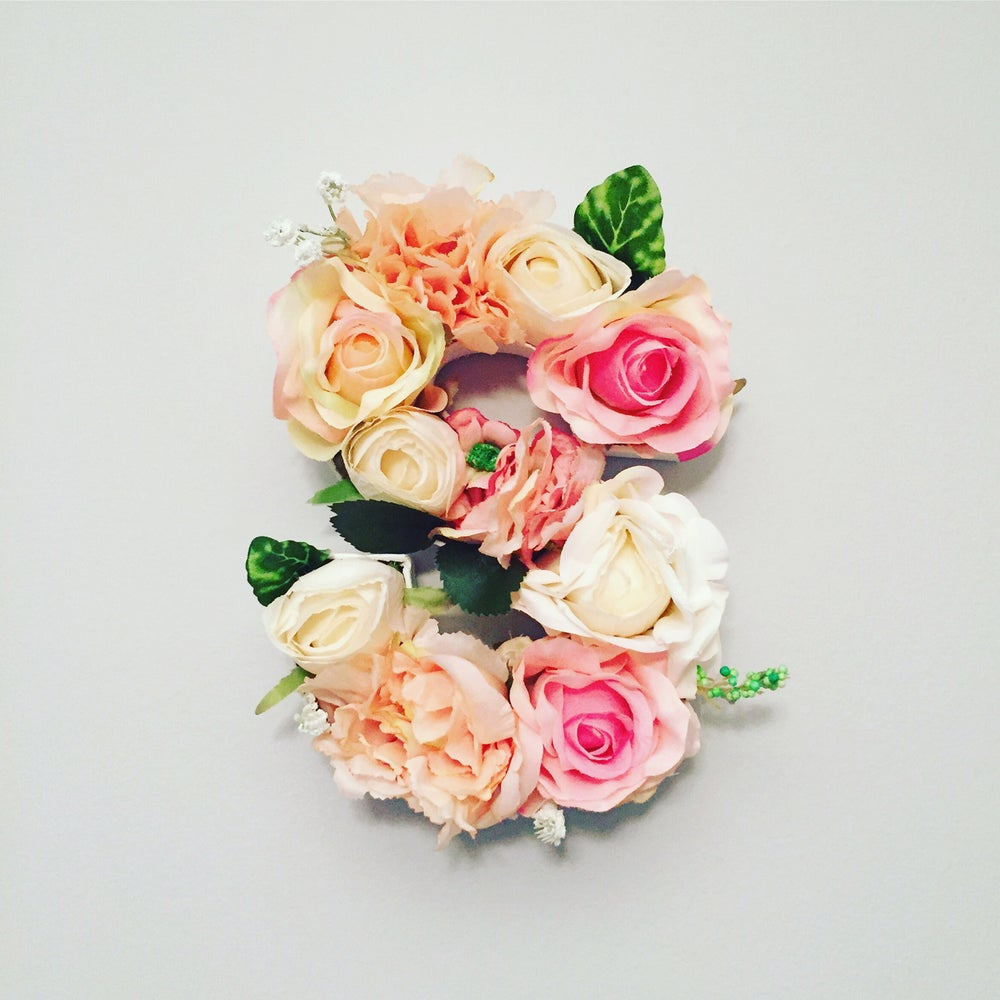 Image of Bespoke Floral Initial