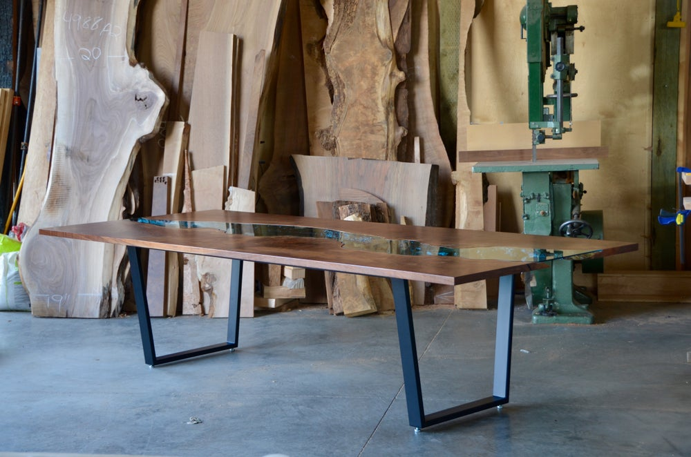 Image of *claro walnut* river table