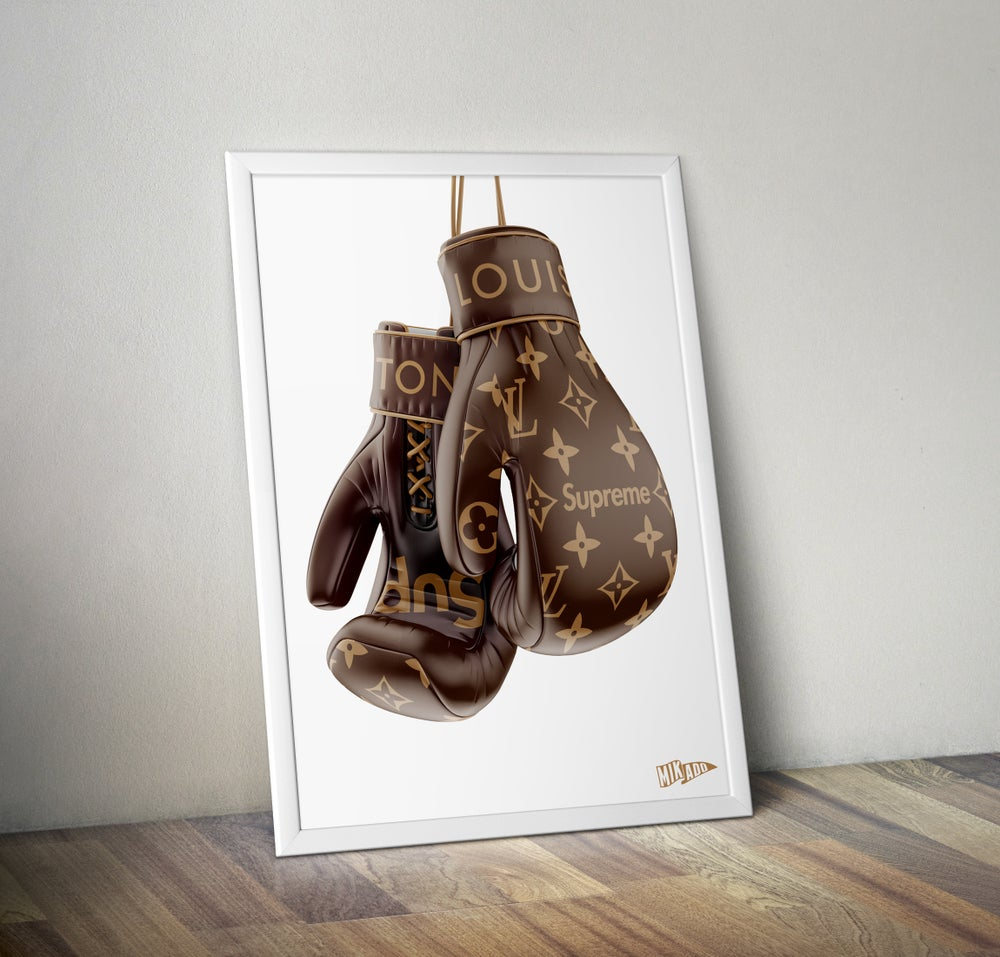 Image of SUPREME x LOUIS VUITTON BOXING GLOVES limited prints - Shipped Worldwide
