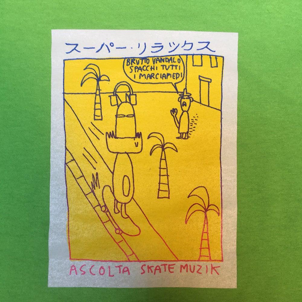 Image of SUPER RELAX スーパー・リラックス by Dottor Pira x Skate Muzik [Lime]